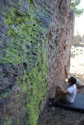 Rock Climbing Photo: he took a lichen to the rock