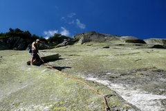 Rock Climbing Photo: Julie on Moritz (4)