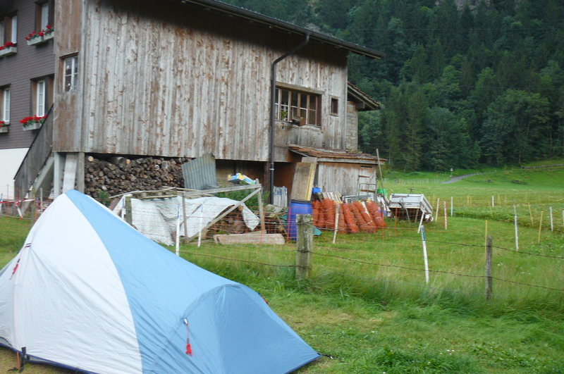 great cheap camping down the valley in the village of Innertkirchen.