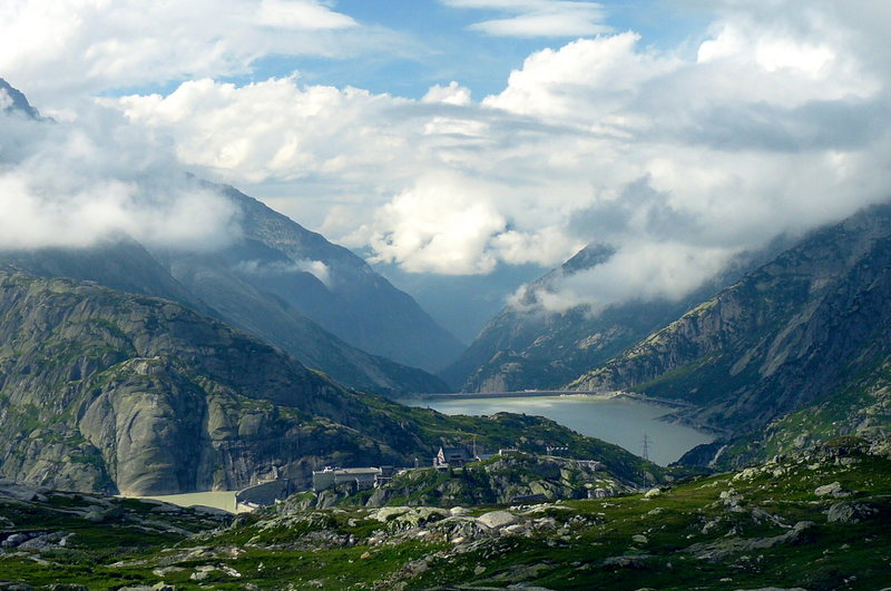 Rock Climbing Photo: From the top of Grimsel Pass. That's the Dome de l...
