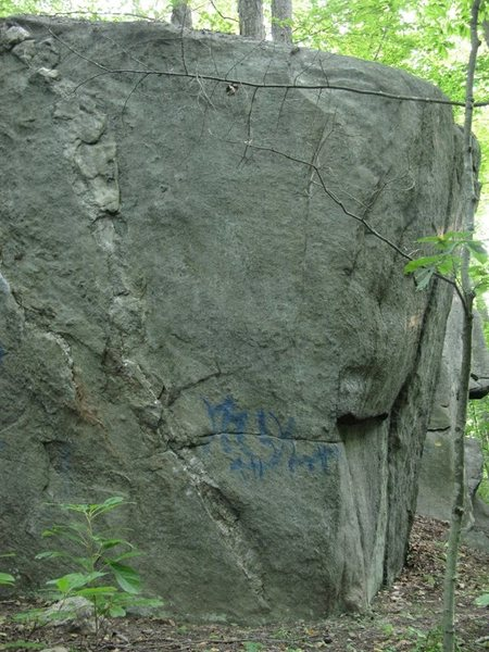 "The north facing side of ""New Testament"" rock. This is the right side."