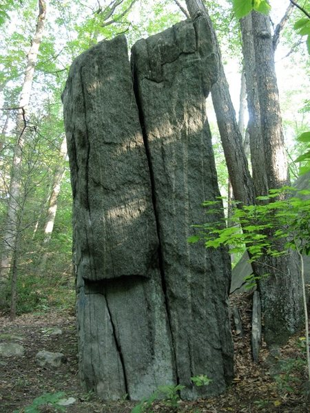 """The western face of """"New Testament"""" rock. (The side facing the brook)"""