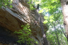 "Rock Climbing Photo: Bradley leading a new route called ""Little An..."