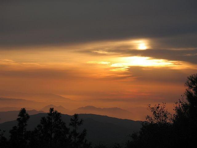 Rock Climbing Photo: Sunset from the Republic, Black Mountain