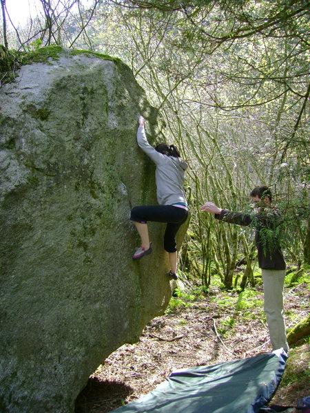 Rock Climbing Photo: Tara Boudreau sending Sleight of Foot