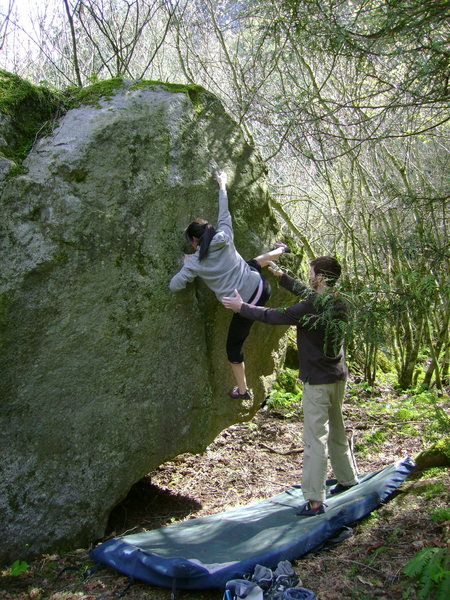 Rock Climbing Photo: Tara on Sleight of Foot