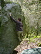 Rock Climbing Photo: Brock Tilling sending Sleight of Pie