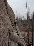 Rock Climbing Photo: Glenn Schuler on his very own SLIPPERY NIPPLE. Pho...