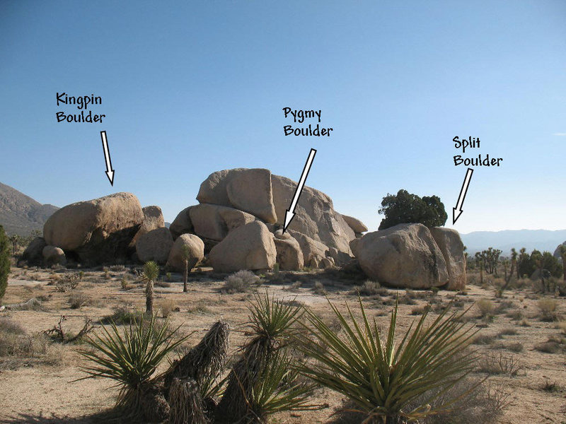 Looking south from Simpleton Rock, Joshua Tree NP
