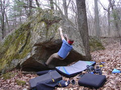 Rock Climbing Photo: Dobbe pulling the roof.
