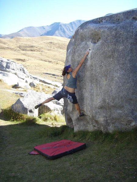 Rock Climbing Photo: no name V3, quantum field, castle hill