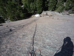 "Rock Climbing Photo: Looking down the ""slabtacular"" first pit..."