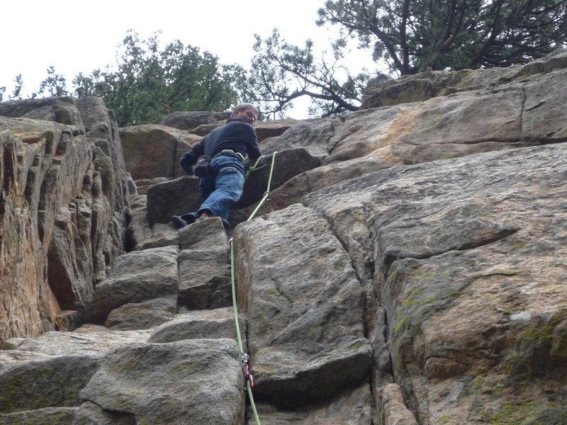 Rock Climbing Photo: Resting below the crux.
