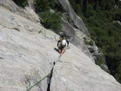 Rock Climbing Photo: on Superslide, Yosemite Valley.