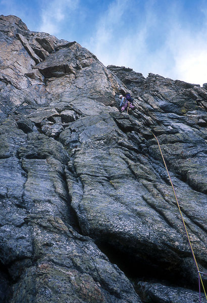 Rock Climbing Photo: Conrad Willett on Durrance Ridge
