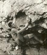 Rock Climbing Photo:  V8,side pull 1995