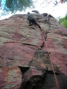 Rock Climbing Photo: Another shot of someone leading HHG.  Here you can...