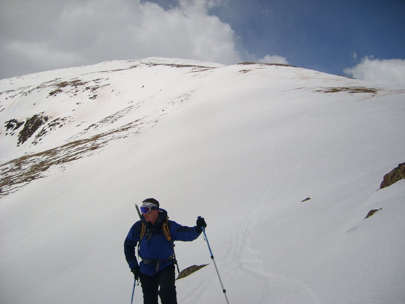 Ski descent of Mt. Elbert. April 2009