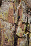 Rock Climbing Photo: A couple guys caught in the act on the .11- variat...