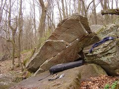 Rock Climbing Photo: Overhanging Boulder uphill and more or less in the...