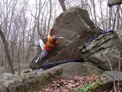 Rock Climbing Photo: Moving up the arete on Cool Hand Luke.  April 09. ...