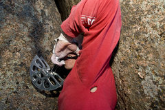Rock Climbing Photo: ODub Special Forces Chuck James Rambo pluggin' art...