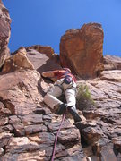 Rock Climbing Photo: We belayed too low at the end of pitch 2.  This is...