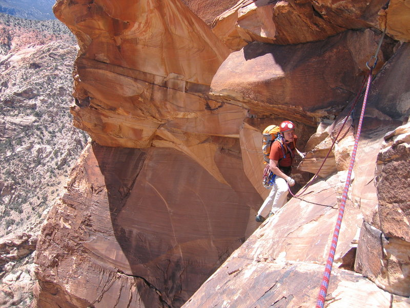 Rock Climbing Photo: The spectacular p4 traverse.