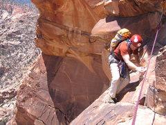 Rock Climbing Photo: End of the p4 traverse.