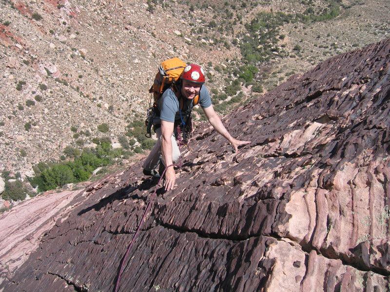 Rock Climbing Photo: Top of pitch 5.