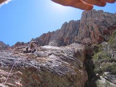 Rock Climbing Photo: The long pitch 6.