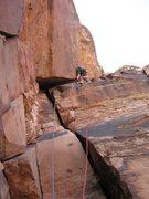 Rock Climbing Photo: Fun Liebacking.  4/29/09