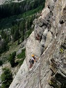 Rock Climbing Photo: The top of P5.