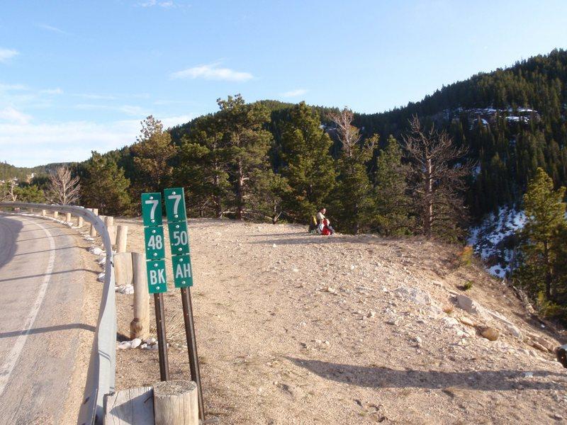 Trail head w/ road marker