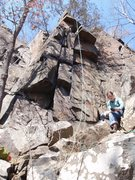 Rock Climbing Photo: Double Cracks with Netta May