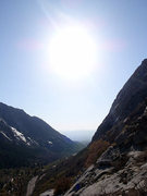 Rock Climbing Photo: View down Little Cottonwood Canyon from the start ...
