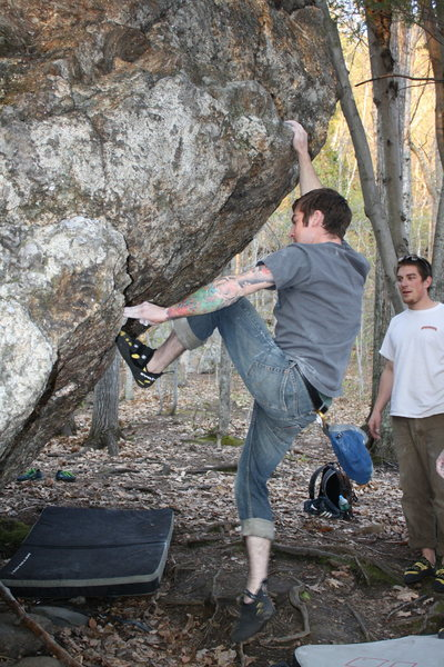 Rock Climbing Photo: Jake Lusona on Lazy Man's Dyno