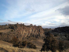 Rock Climbing Photo: Massacre rocks - View of Eagle Wall from Funny Bus...