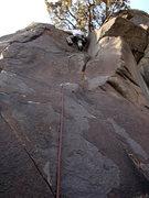 Rock Climbing Photo: JB on lead