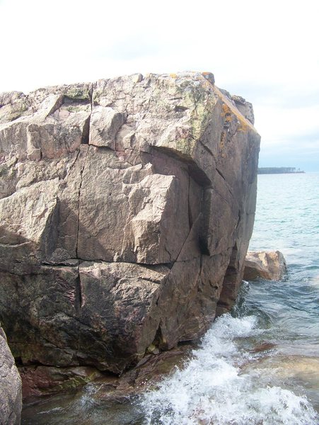 Rock Climbing Photo: The seam on the left and the sketch crack on the r...