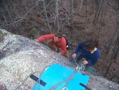 Rock Climbing Photo: hanging belay