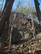 Rock Climbing Photo: the crack is center picture (sorry about the trees...