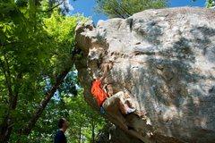 Rock Climbing Photo: Jon getting in the crux of Rock Till You Drop.