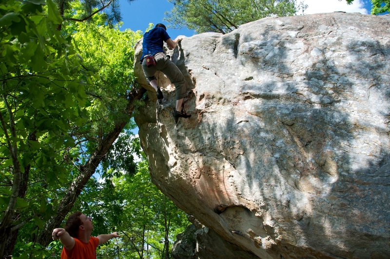 Rock Climbing Photo: Jeff topping out RTYD.