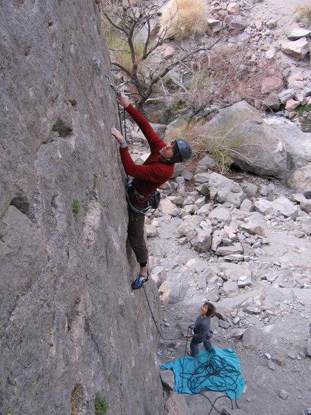 Rock Climbing Photo: Matt Hern sorta clipping, sorta posing. Erin Neff ...