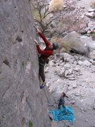 Rock Climbing Photo: Matt Hern sorta clipping, sorta posing. Erin Neff ...