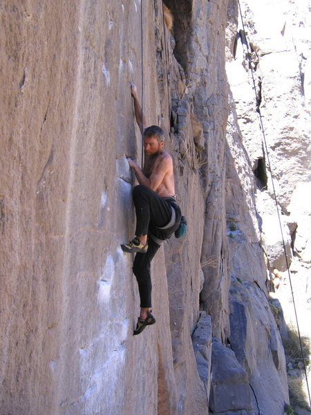 Rock Climbing Photo: After blowing it on lead again, I TR-ed to get the...