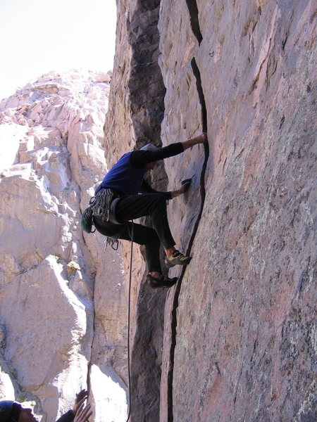 Rock Climbing Photo: J. Howland climbing, Matt Hern speaking in tongues...