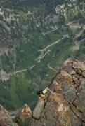 Rock Climbing Photo: Benny on the ridge