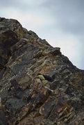 Rock Climbing Photo: Up the ridge
